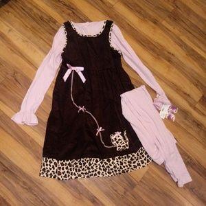 Blueberi Boulevard Matching Sets - NWT🔸Blueberi Blvd🔸 Dress & Leggings
